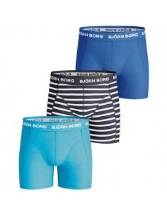 Bjorn Borg 3Pack Boys BB Stripe Peacoat Boxershorts