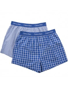 Calvin Klein Ondergoed Woven 2Pack Blauw geruit
