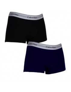 Calvin Klein Ondergoed Modern Cotton Stretch Trunk Blue Black 2Pack