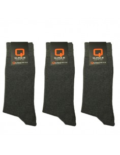 Suaque Heren sokken 3Pack 43-46 Cotton Comfort dark grey