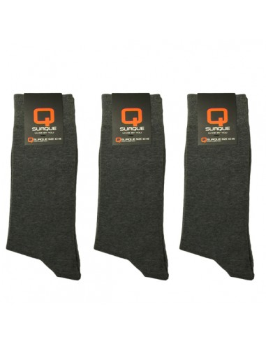 Suaque Heren sokken 3Pack 43-46 Cotton Comfort dark grey