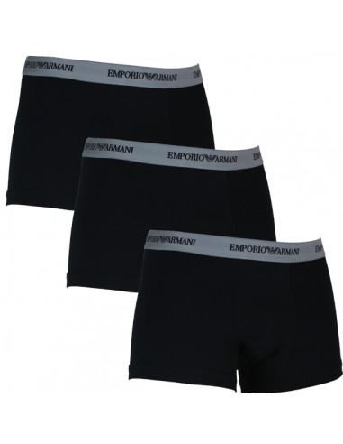 Emporio Armani Trunk Stretch Cotton 3Pack Zwart