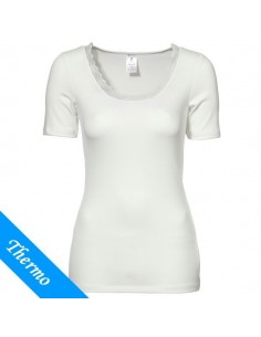Ten Cate Thermo Dames Lace T-Shirt Wit