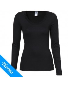 Ten Cate Thermo Dames Lace T-Shirt Longsleeve Zwart