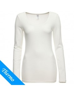Ten Cate Thermo Dames T-Shirt Longsleeve Wit