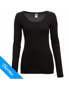 Ten Cate Thermo Dames T-Shirt Longsleeve Zwart