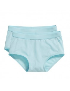 Ten Cate Meisjes Brief Slip 2Pack Iced Aqua 2-6Y