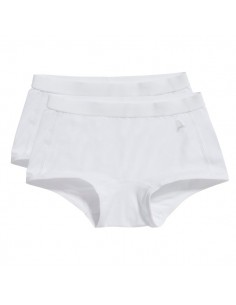Ten Cate Meisjes Short 2Pack Wit 2-6Y