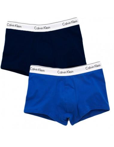 Calvin Klein Ondergoed Modern Cotton Stretch Trunk Blue dark blue 2Pack