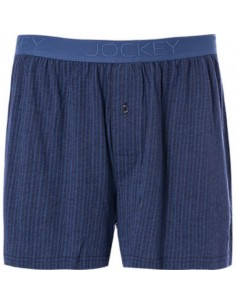 Jockey Boxershort Klassiek Woven Stripe Blue Horizon