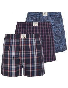 Jockey Boxershort Klassiek Woven 3Pack Sunrise Surf Blue Nights