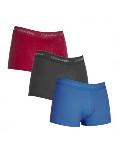 Calvin Klein Ondergoed Cotton Stretch Color Band 3Pack Low Rise Blue Black Red