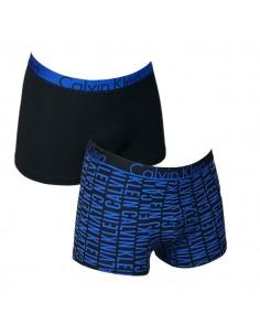 Calvin Klein Ondergoed ID Trunk Letters Blue 2pack