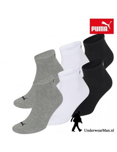 Puma Sokken 3Pack Quarter GreyWhiteBlack