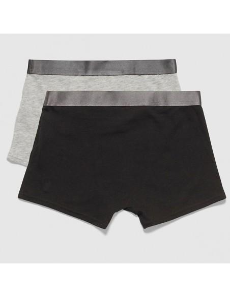 Calvin Klein Customized Stretch Zwart Grijs 2Pack Boxershorts Jongens Ondergoed