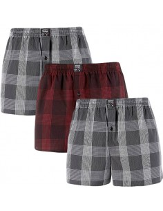 Jockey Boxershort Klassiek Woven Red Black Checks