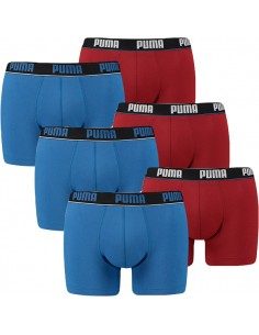 Puma Boxershort 6 pack Blue red