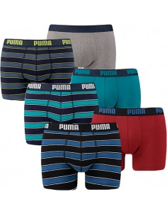 Puma Boxershort 6 pack rugby stripes