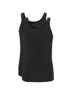 Ten Cate Men Fine Shirt Singlet 2Pack Zwart Melee
