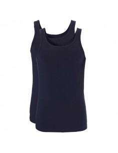 Ten Cate Men Fine Shirt Singlet 2Pack Navy