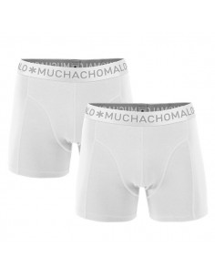 MuchachoMalo Wit Solid Duopak Heren Boxershort