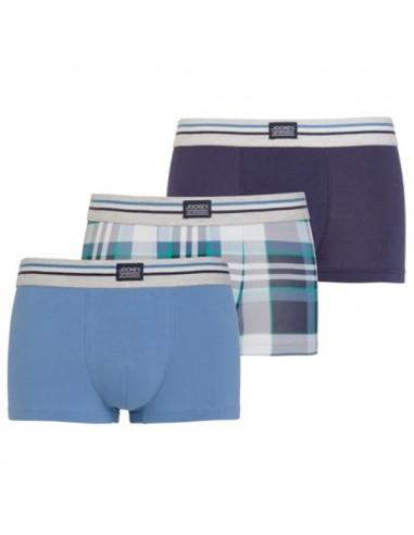 Jockey Boxershorts short 3 pack Classic Maui Blue Trunk