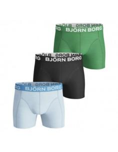 Björn Borg Boxershorts 3Pack BB SEASONAL SOLIDS Blue Black Green