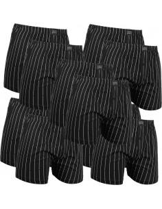 Gino Santi Klassieke boxer 8+2gratis pak Zwart Pin Stripes