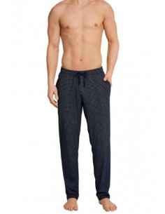 Schiesser Long Pants Lounge Broek Checkers Dark Blue