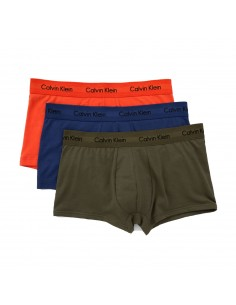 Calvin Klein Ondergoed 3Pack Blue Green Orange Low Rise Trunk