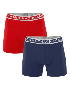 MuchachoMalo 2Pack SOLID 251 Blue Red Jongens Boxershorts