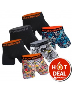 Funderwear Traveler Actie 6Pack Boxershorts