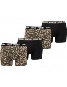 Puma Boxershort 4 pack Abstract Camo Green Black