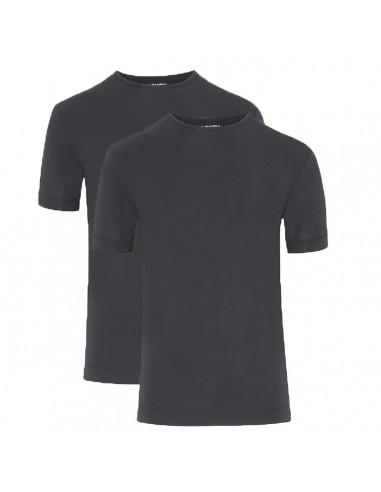 Jockey Heren microfiber shirt Zwart 2-pack