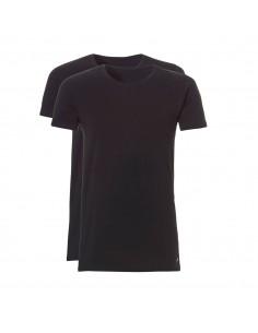 Ten Cate ondergoed Men Basis Long T-shirt 2Pack Zwart