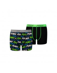 Puma Boxershort Repeat Logo Black 2Pack Boys