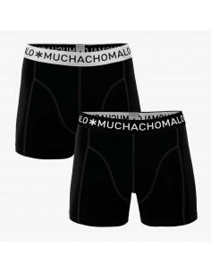 MuchachoMalo 2Pack SOLID 274 Black Black Heren Boxershorts