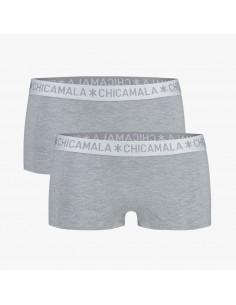 MuchachoMalo BASIC Short Grijs 2Pack Dames Ondergoed