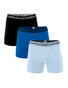 MuchachoMalo 3Pack SOLID 301 Dark Blue Blue Black Jongens Boxershorts