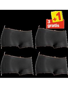 Sloggi Feel Sensational Short 02 4 pack Zwart 3+1 Gratis
