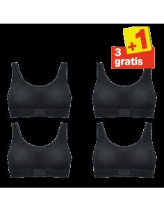 Sloggi Double Comfort Top 4 pack Zwart 3+1 Gratis