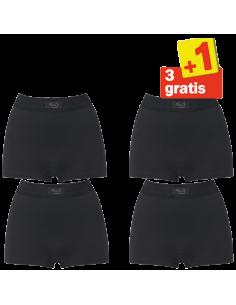 Sloggi Double Comfort Short 4 pack Zwart 3+1 Gratis