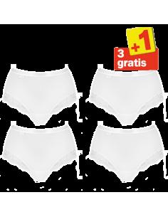 Sloggi Romance Maxi Slip 4 pack Wit 3+1 Gratis