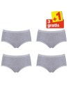 Sloggi Basic Midi Slip 4 pack Grijs 3+1 gratis