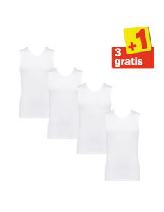 Sloggi basic Hemd 4 pack Wit 3+1 Gratis