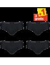 Sloggi Men Basic Midi Zwart 4Pack, 3+1 gratis
