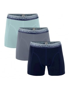 MuchachoMalo SOLID 285 3Pack Dark Blue Grey Blue Light Blue Heren Boxershorts
