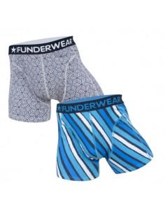 Funderwear Geometric Stripe 2Pack Boxershorts