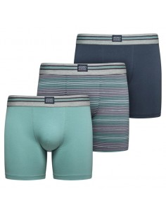 Jockey Boxershorts Cotton Stretch  Trunk 3Pack Mineral Blue