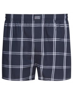 Jockey Boxershort Klassiek Woven Navy Checkers